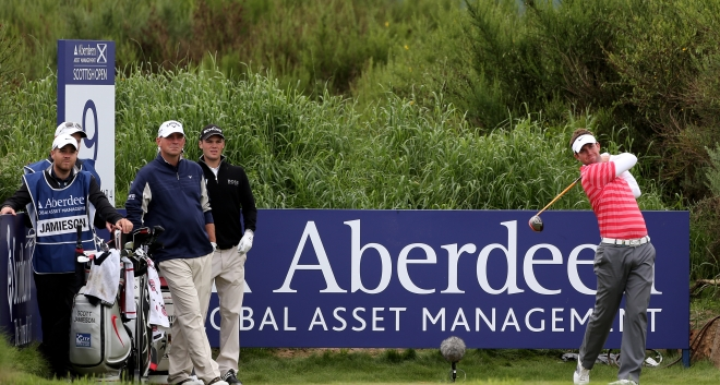 Scott takes part in the Aberdeen Asset Management Scottish Open on home soil in 2012