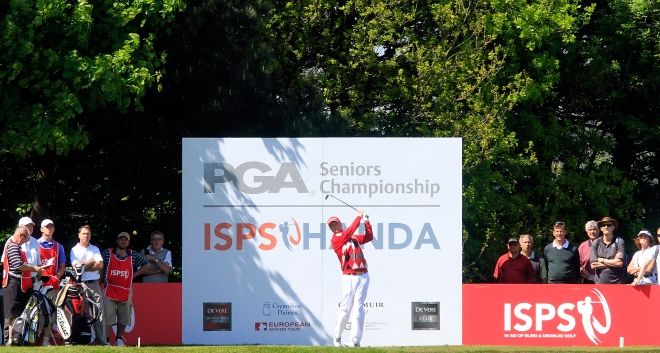 Gary in action at the 2013 ISPS Handa PGA Senior Championships