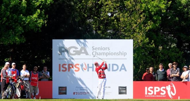 Gary in action at the 2013 ISPS Handa PGA Senior Championships