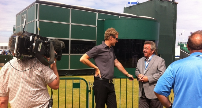 Tony speaking to Dan Walker from the BBC during the week at Muirfield
