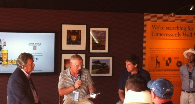 Glenmorangie Dram O'Clock, Question and Answer session with Tony live at The Open Championship