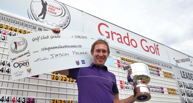Jason winning the Grado Open in Italy