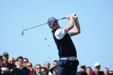 Marc Warren tees off during the final round of the 2013 Open de Espana